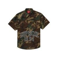 Supreme Arc Logo S/S Work Shirt - Camo [SS20] 100% Original