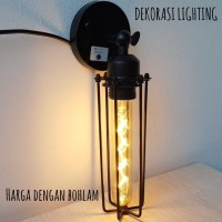 L751 1L lampu dinding bohlam edison led kafe vintage retro indoor - Bohlam Lurus