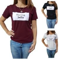 H&K Kaos Wanita / Baju Atasan / Tumblr Tee Morning Selfie