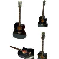 gitar akustik frasser imports 9112 bk hitam ( berat 2 kg kena volume