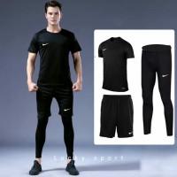 Paket Baju Celana running Sepak bola jersey Celana baselayer panjang