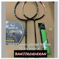 Promi Raket Badminton APACS POWER CONCEPT 90 BONUS GRIP KUAT 35lbs