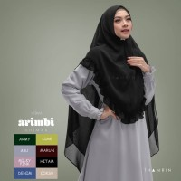 Hijab Jilbab Instan Terbaru Arimbi Khimar Syari Kerudung Rempel Murah