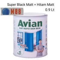 Cat AVIAN Kayu Besi 0.9 Lt HITAM MATT / DOFF ( Liter - 1 kg)