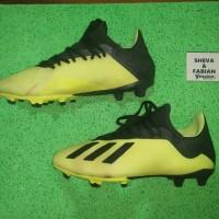 Sepatu Bola ADIDAS X 18.3 FG Solar Yellow second original