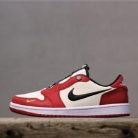 Sepatu Nike Air Jordan 1 Low Slip Chicago Versity Red White Black