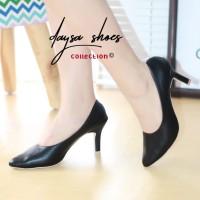 sepatu pantofel wanita pom 01 - Hitam, 38