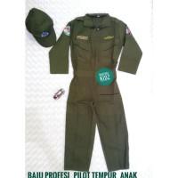 Best Seller Baju Profesi Pilot Tempur Anak - 3-4 Tahun, Hijau Best