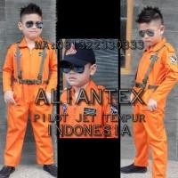 Promo Baju Pilot Tempur Anak/ Baju Profesi Anak /Kostum Anak - 3-4