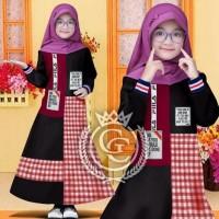 Stella Kid/Gamis Rib/Gamis Anak/Baju Muslim Anak perempuan/Gamis Fila