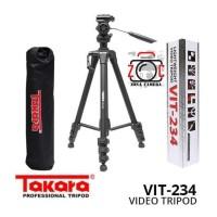 Tripod Takara VIT-234 Pen Head Video Foto Vit 234 Tripot Attanta Foto