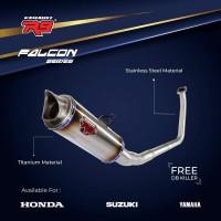 KNALPOT R9 FALCON ORIGINAL HONDA SONIC 150 R FI / SUPRA GTR 150