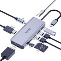 Multiport 9in1 USB HUB Type C Adapter ROBOT HT390 Lightweight
