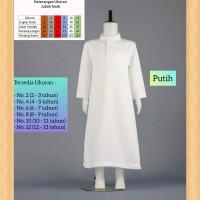 baju muslim anak laki laki jubah koko gamis polos anak 2-13thn putih