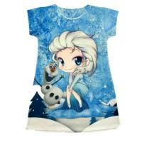 Dress anak motif frozen II