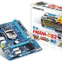 MOTHERBOARD GIGABYTE H61M-DS2 H61 DS2 SOCKET 1155 DDR3 GARANSI RESMI