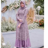 gamis baju muslim wanita pesta mewah seragam pernikahan maxi wanita
