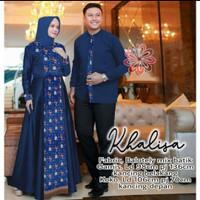 couple batik muslim gamis baju wanita pesta mewah pria kemeja koko