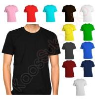 Kaos Polos dewasa baju pria wanita cotton combed 32s banyak warna