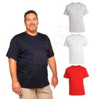 Kaos Polos cotton combed 32s baju pria wanita Big size XXXL jumbo