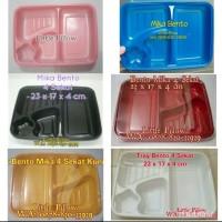 (Khusus GOJEK min beli 800)Tray mika bento/Kotak Bento/Lunch Box Sekat