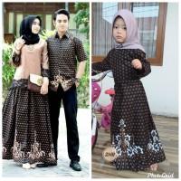 Baju set renda couple keluarga batik sarimbit atasan pria dan gamis