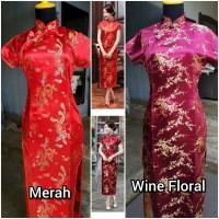 Cheongsam Jumbo 3XL-6XL Qipao Jumbo Baju Imlek Baju Sangjit Dress