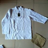 Baju koko remaja (SMA) putih panjang