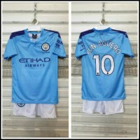 Setelan Bola Anak / Baju Bola Anak Manchester City