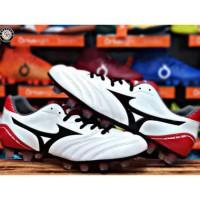 ||| Sepatu Bola Mizuno Monarcida Neo Wide - White/Black/Chinese Red