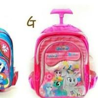 Best Seller Troli Tas Sekolah Little Pony Anak Perempuan Tk Troly