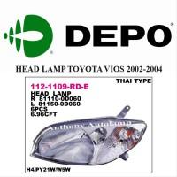 Dijual HEAD LAMP TOYOTA VIOS 2002-2004 LH Berkualitas