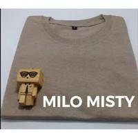 Baju Kaos Polos Oblong Bandung Coklat Muda MILO MISTY cewek cowok - S