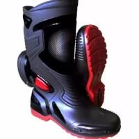 SEPATU AP BOOTS moto 3 hitam merah size 39-45