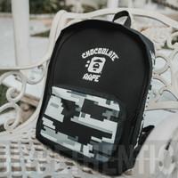 Aape By Bathing Ape Black Backpack Original/ Tas Ransel Hitam Bape Bag