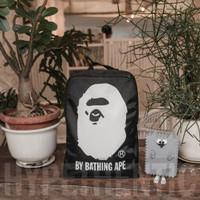 A Bathing Ape Black Backpack Original/ Tas Ransel Hitam Bape Bag