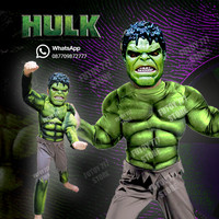 Baju kostum anak Hulk Superhero Super Hero ulang tahun laki lelaki