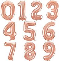Balon Foil Angka Jumbo Rose Gold 80 Cm / Balon Angka Jumbo 80cm