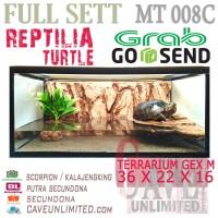 MT008C full set Aquarium terrarium kandang reptile turtle kura kura