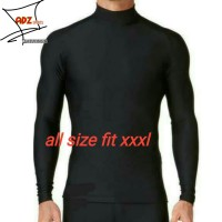 Baju manset jumbo hitam / baselayer polos big size