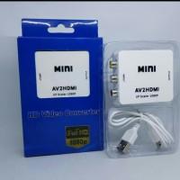 converter mini AV2HDMI - AV TO HDMI scaler 1080p