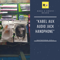 KABEL AUX TO AUDIO JACK HANDPHONE 2 in 1