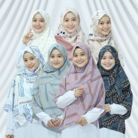 jilbab segi empat ll jilbab syar'i ll Alifa motif 130