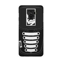Hard Case Casing Black Vans Shoes for Samsung Galaxy J6 - J6+