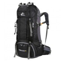 FREE KNIGHT - 60L Outdoor Waterproof Camping Backpack with Rain Cover