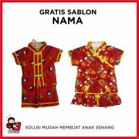 Baju Anak Setelan Model Cina Motif Mandarin Kaos Perempuan Murah Gra