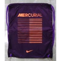Gymsack Nike Mercurial Ungu Original String Bag Tas Serut Sepatu Bola
