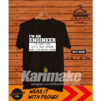 Kaos Baju Profesi Engineer Quote Kaos Distro - Karimake