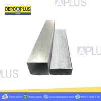 BESI HOLLO /HOLLOW GALVANIS 4X4 0,5mm tali hitam kuning rangka gypsum