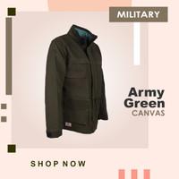 JAKET PARKA HIJAU ARMY GREEN MILITARY TAD TACTICAL JAKET GUNUNG KANVAS